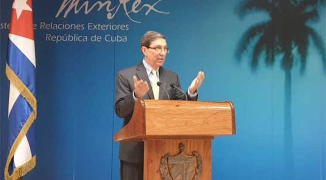 Cuban FM warns on provocations organized from US